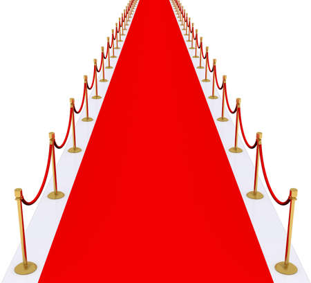 red velvet: red carpet with gold stanchions