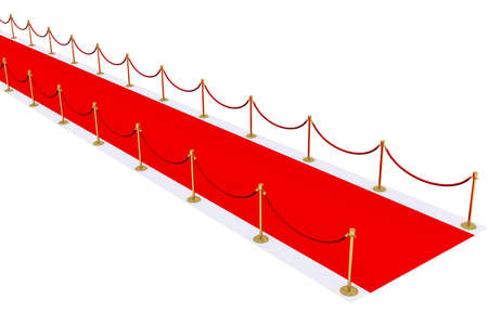 red carpet with gold stanchions photo