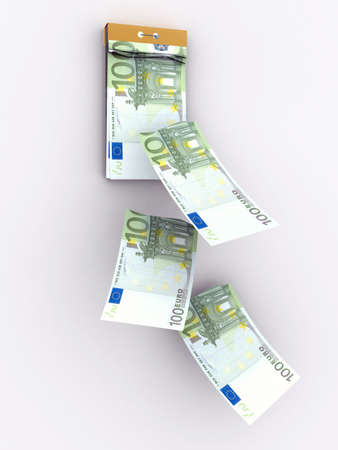 monthly salary: tear-off calendar consisting of euro banknotes