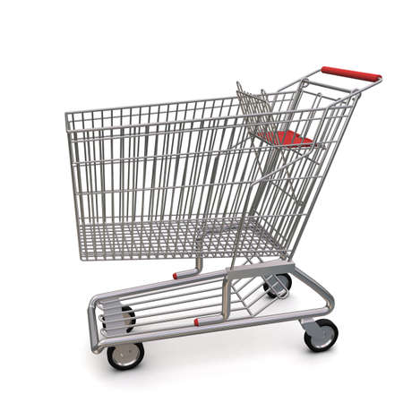 trolley from the supermarket Stock Photo - 10299707