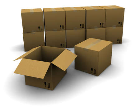 Group of cardboard boxes Stock Photo - 10299702