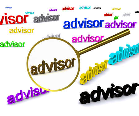 financial questions: Search advisor Stock Photo