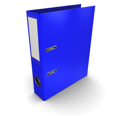 Blue office paper folder on a white background photo