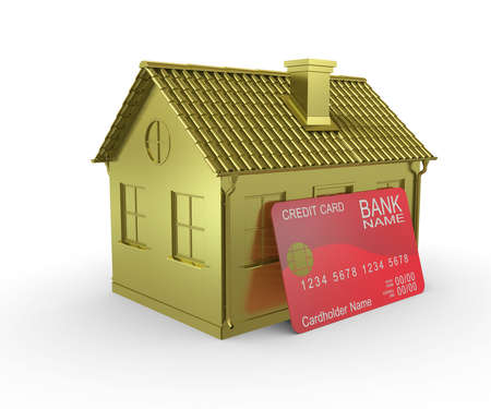 Plastic card payments for home Stock Photo - 10304675