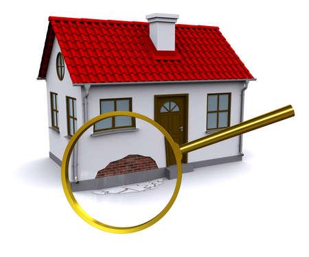 solucion de problemas: Lupa aumenta el da�o en la pared de su casa en 3D