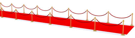 red carpet with gold stanchions Stock Photo - 10337276