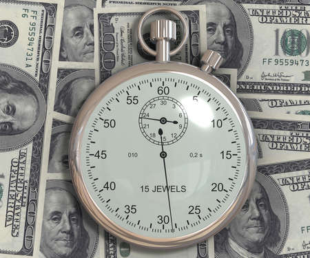 Time is money. 3d generated image photo
