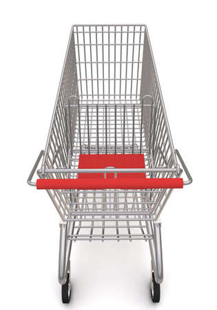 trolley from the supermarket. 3d rendering on white background Stock Photo - 10337620