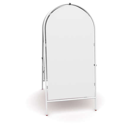 portative: white advertising stand. 3d rendering on white background