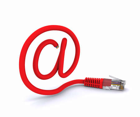 worldwideweb: sign e-mail made of a network cable