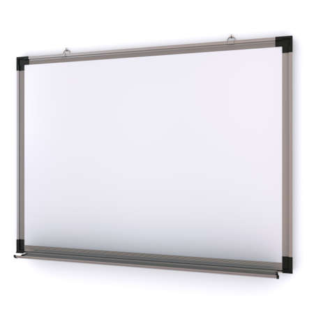 magnetic: White magnetic board on the wall. Isolated 3d rendering