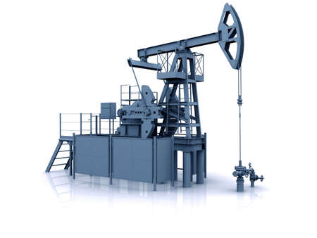 Engineering 3D model of oil production equipment (oil pump-jack) Stock Photo - 10337572