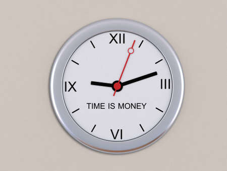Wall clock with the inscription Time is money photo
