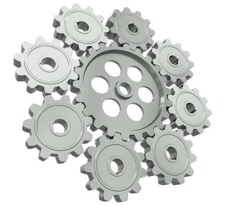Die Gruppe von Metallgetriebe - ein Symbol der Teamarbeit
