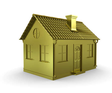 gold house: Golden House on a white background