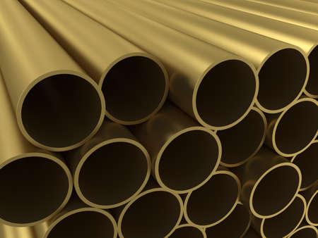 The group of non-ferrous alloy tubing photo
