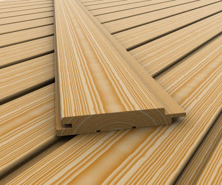 lumber mill: Wooden boards Stock Photo