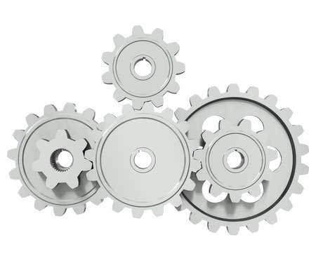 cogwheel: The group of metal gears - a symbol of teamwork