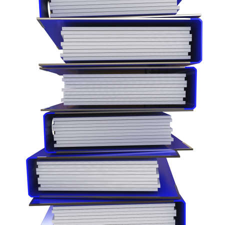 a stack of blue folders for office papers photo
