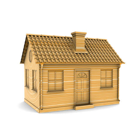 House of Wood. 3d rendering Stock Photo - 10413905