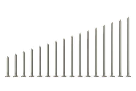 metal working: Size range of nails