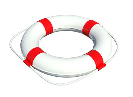 Lifebuoy  Isolated on white background photo