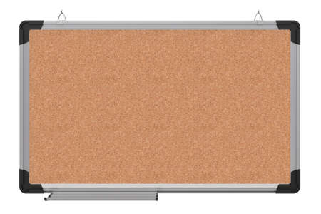 Office magnetic board  The material is cork  3d rendering Stock Photo - 13010725