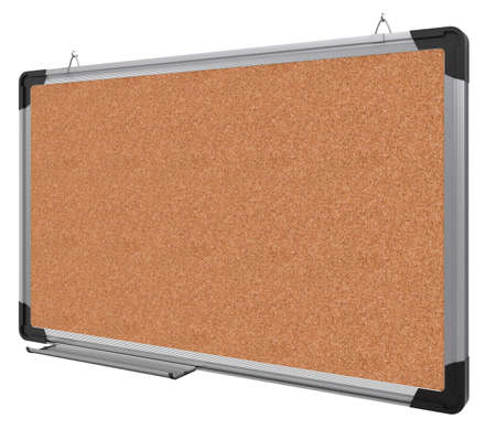Office magnetic board. The material is cork. 3d rendering photo