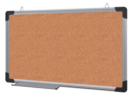 Office magnetic board  The material is cork  3d rendering photo
