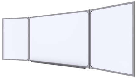 magnetic clip: Big magnetic white board  Isolated on white background