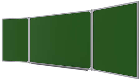 Big magnetic green board  Isolated on white background photo