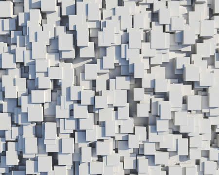 Wall of white cubes photo