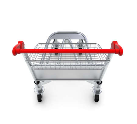 Trolley for luggage at the airport  Isolated on white background Stock Photo - 14850847