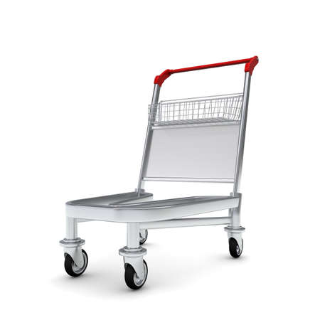 Trolley  Isolated on white background Stock Photo - 14919660