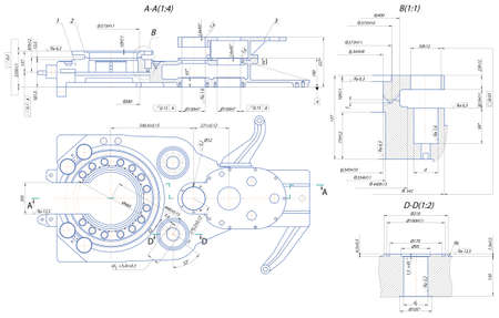 mechanical engineer: Sketch. Automatic key drilling