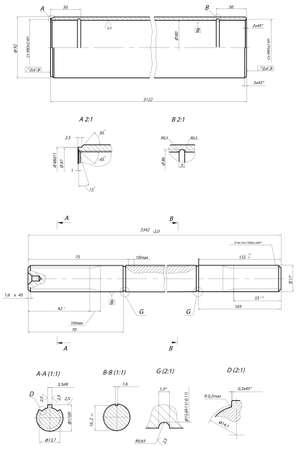 Sketch. Rod displacement pump Stock Vector - 15355767