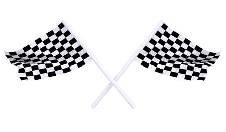 rallying: Two sports flag. Isolated render on a white background