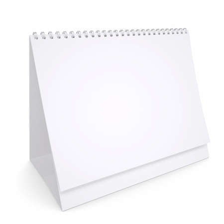 looseleaf: White loose-leaf calendar  Isolated render on a white background Stock Photo