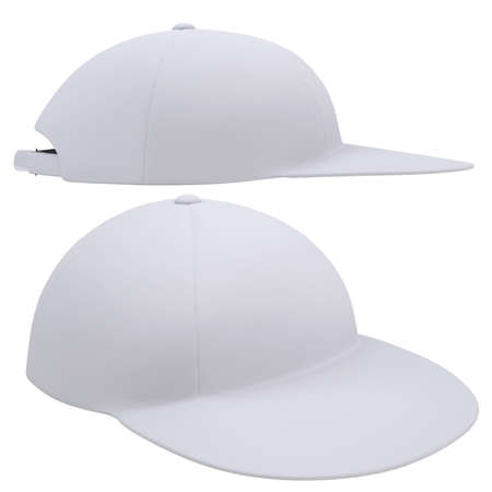 White cap  Isolated render on a white background photo