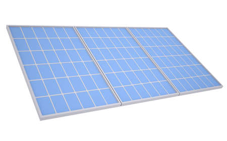 photovoltaics: Solar panels  Isolated render on a white background Stock Photo