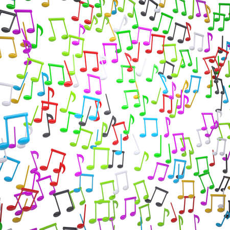 Colorful musical signs. Render on a white background Stock Photo - 17188023