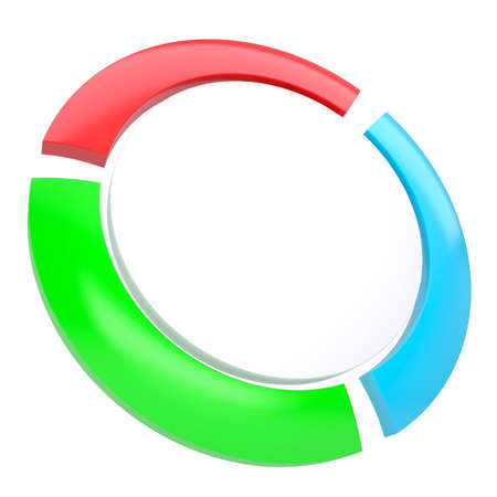 Multicolored abstract disk. Isolated render on a white background Stock Photo - 17188102