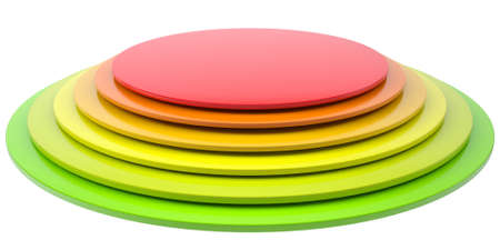 Button of colored discs. Isolated render on a white background Stock Photo - 17188028
