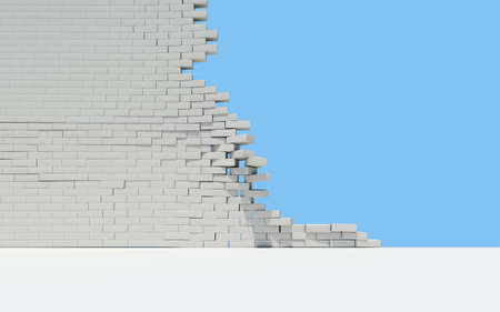 Unfinished brick wall. Sky in the background Stock Photo - 17188035