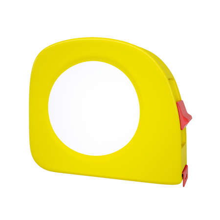 Yellow tape measure  Isolated render on a white background photo