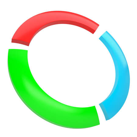 Multicolored abstract disk  Isolated render on a white background Stock Photo - 17304414