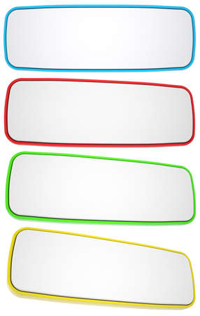 quadrant: Set of rectangular banners. Isolated render on a white background