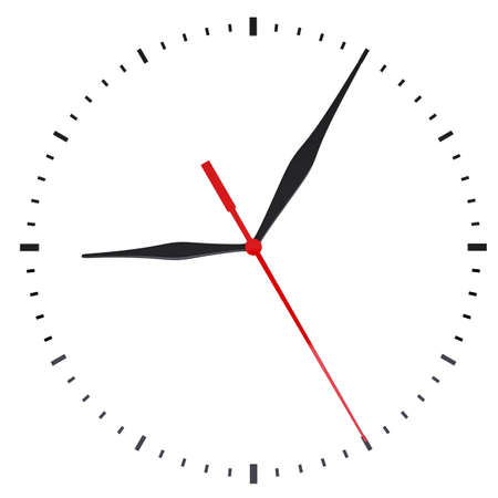 The clock and timestamp without numbers. Isolated render on a white background Stock Photo - 17498099