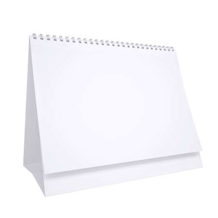 White loose-leaf calendar. Isolated render on a white background photo