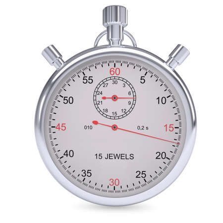 metering: Stopwatch  Isolated render on a white background